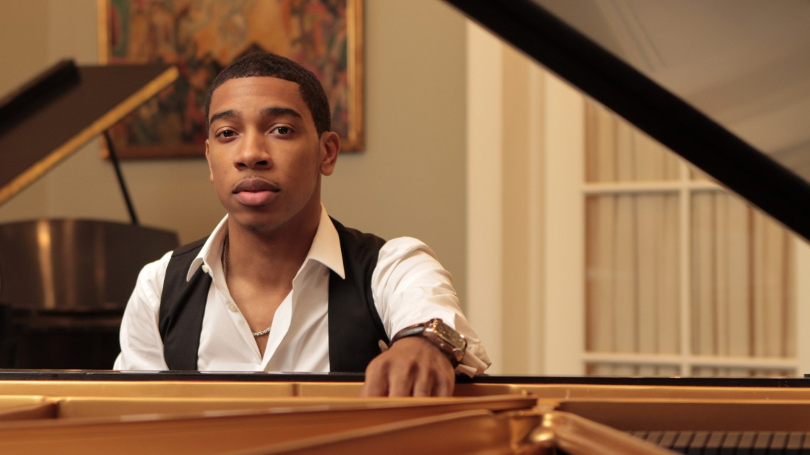 "Christian Sands performs at Xavier University in Cincinnati on Sunday, February 28. His latest album is ""Take One - Live at Montmartre."""